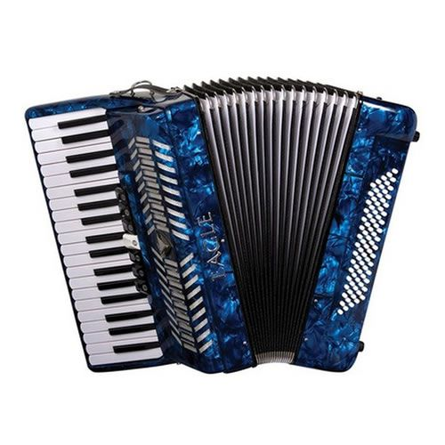 Acordeon Eagle 80 Baixos 7 Registros Ega0780 Azul  - Luggi Instrumentos Musicais