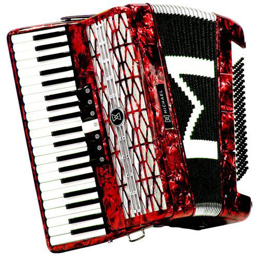Acordeon Michael 120 Baixos Acm12007  - Luggi Instrumentos Musicais