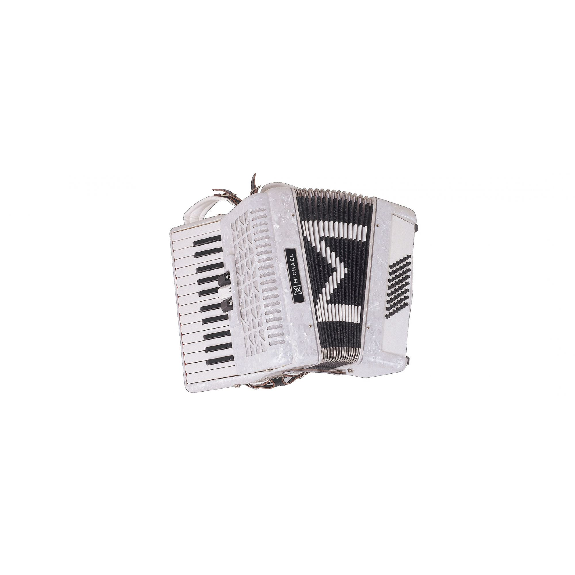 Acordeon Michael 48 Baixos Acm4803 Branco  - Luggi Instrumentos Musicais
