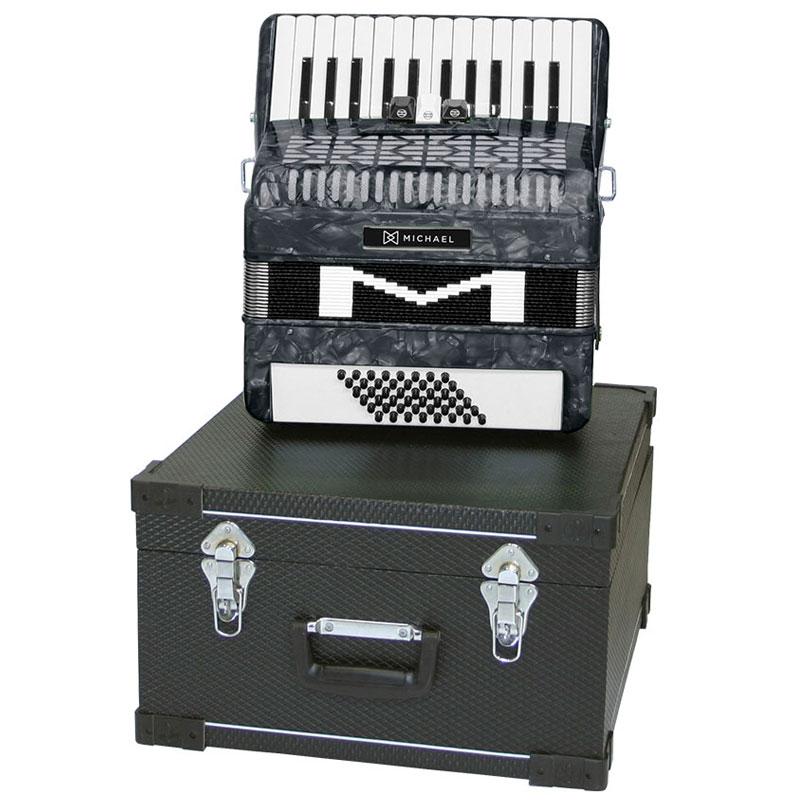 Acordeon Michael 48 Baixos Acm4803 Preto Perolado  - Luggi Instrumentos Musicais