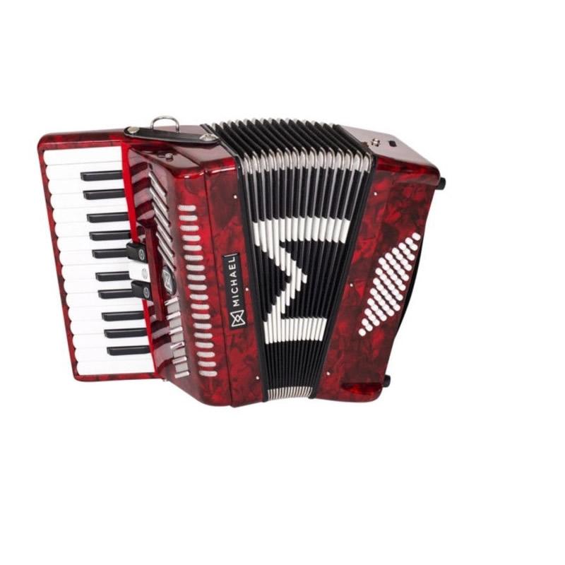 Acordeon Michael 48 Baixos Acm4803 Vermelha  - Luggi Instrumentos Musicais