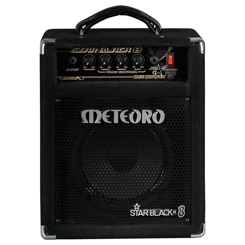 """Amplificador Baixo Meteoro Star Black 8""""  - Luggi Instrumentos Musicais"""