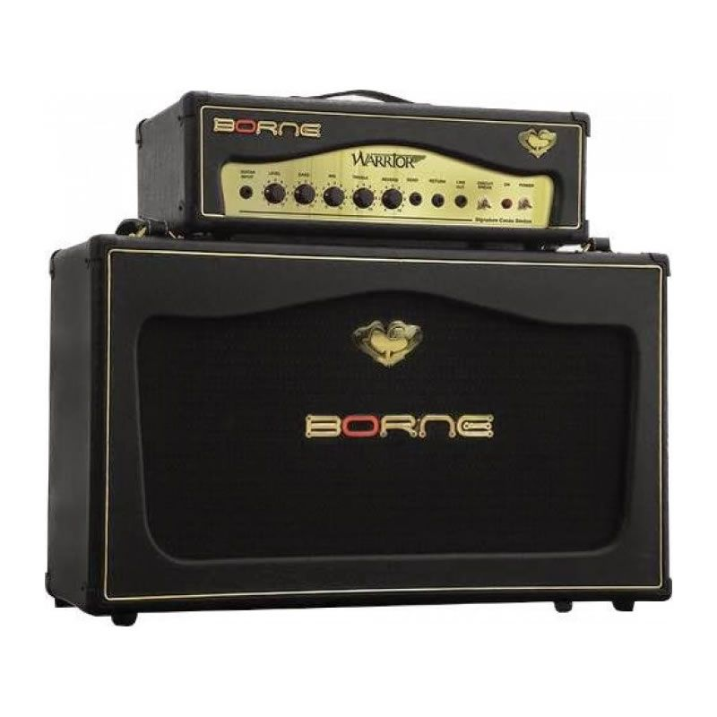 Amplificador Guitarra Borne Warrior 200 Caixa + Ca  - Luggi Instrumentos Musicais