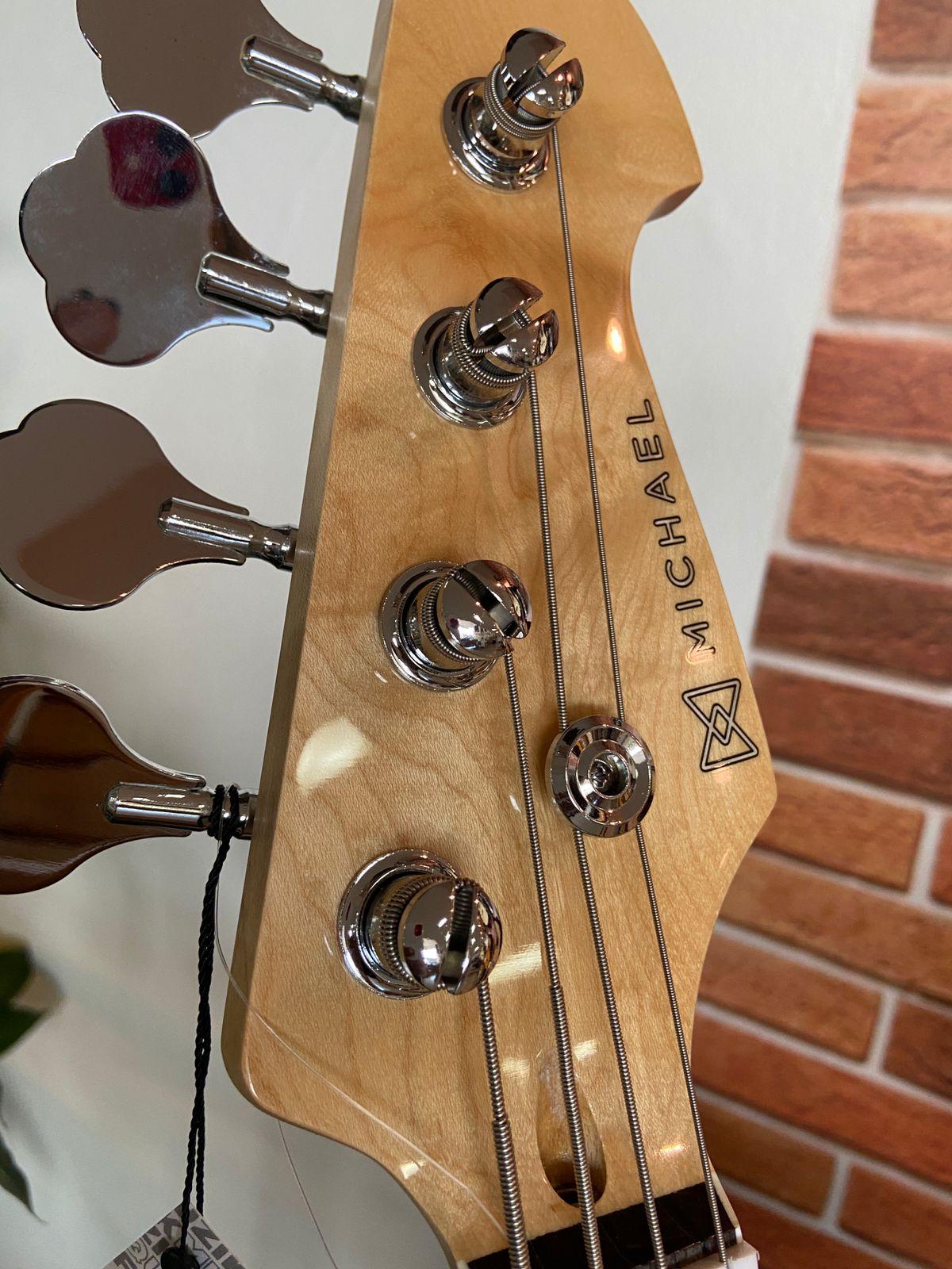 BAIXO 4 CORDAS MICHAEL JAZZ BASS BM675 BLACK  - Luggi Instrumentos Musicais