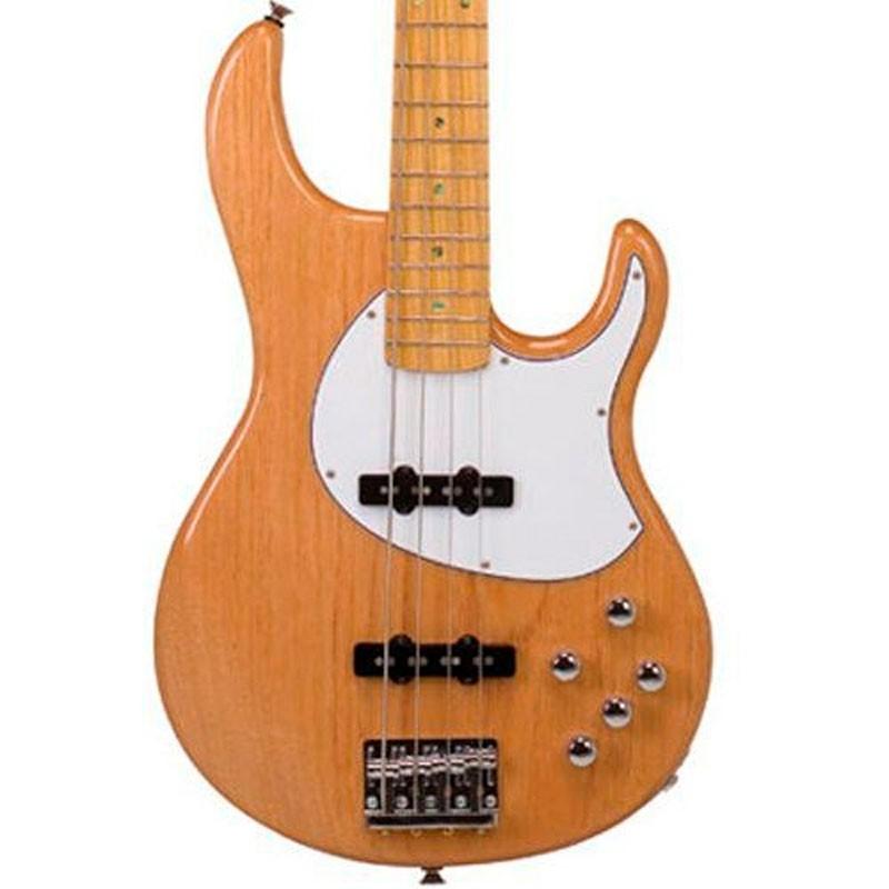Baixo 4 Cordas Tagima Fusion 4 Natural Escudo Branco C/Case  - Luggi Instrumentos Musicais