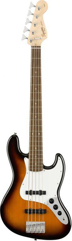 Baixo 5 Cordas Fender Squier Affinity J Bass V Lr Brown Sunburst  - Luggi Instrumentos Musicais