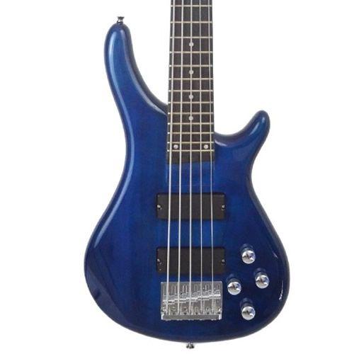 Baixo 5 Cordas Giannini Gb205 Azul  - Luggi Instrumentos Musicais