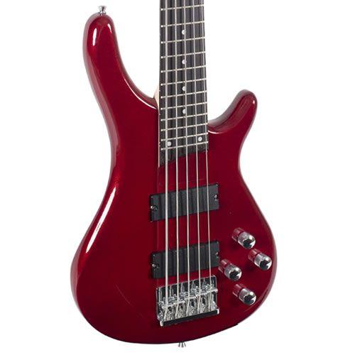 Baixo 5 Cordas Giannini Gb205 Vermelho Metálico  - Luggi Instrumentos Musicais