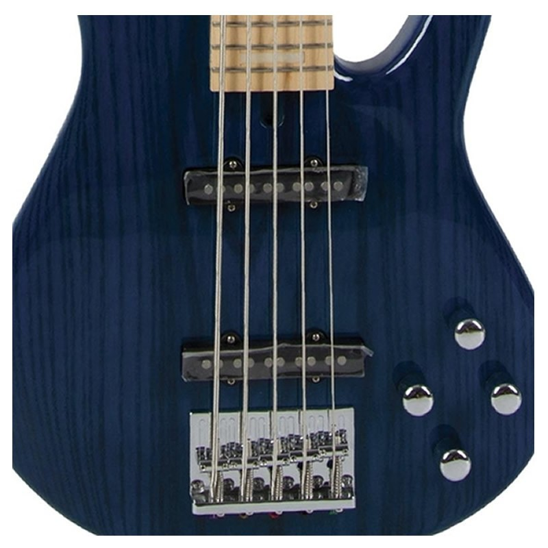 Baixo 5 Cordas Tagima Arthur Maia Am-3 Azul Transparente  - Luggi Instrumentos Musicais