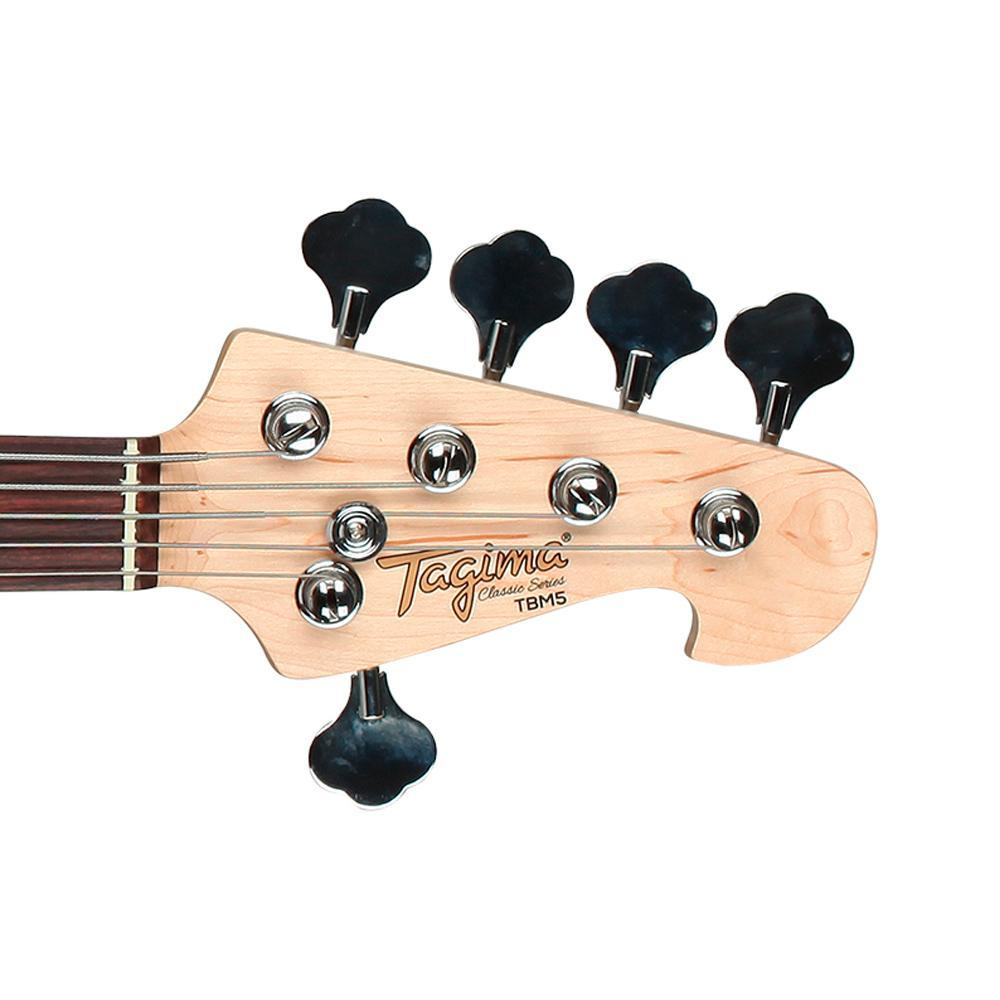 Baixo 5 Cordas Tagima Tbm5 Preto - Ativo  - Luggi Instrumentos Musicais
