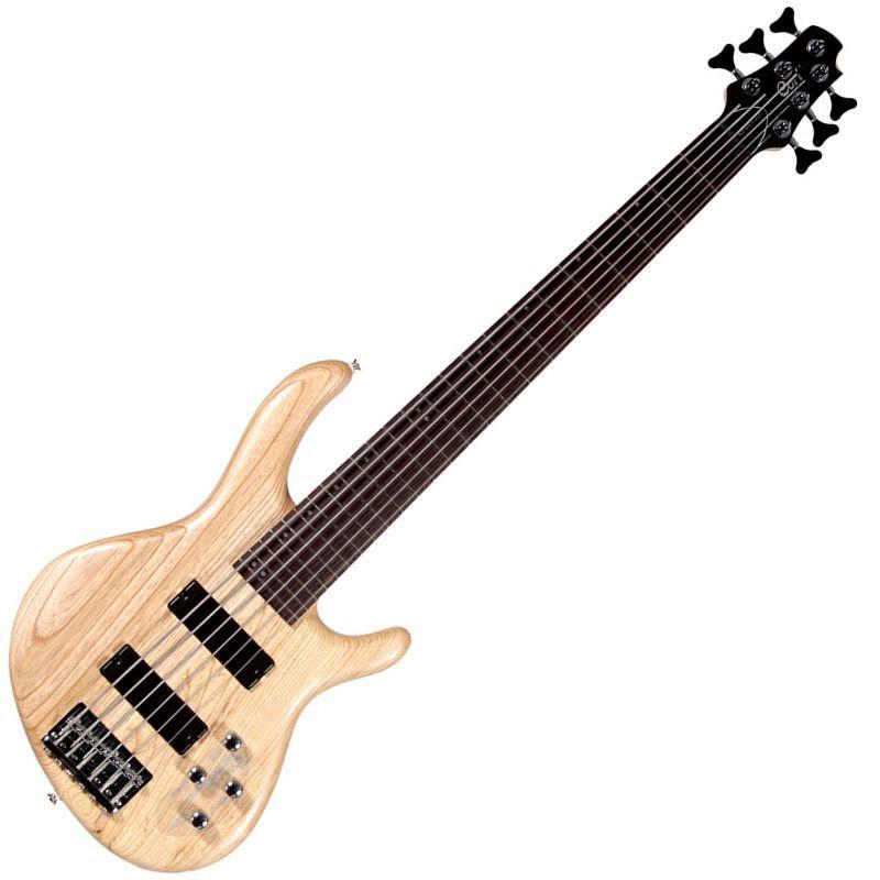 Baixo 6 Cordas Cort Action Dlx Natural  - Luggi Instrumentos Musicais