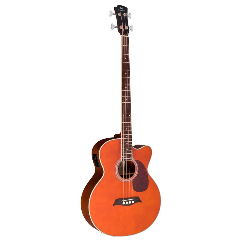 Baixolão Michael Bm401dt Satin Honey – Jumbo Cutaway - 4 Cordas  - Luggi Instrumentos Musicais