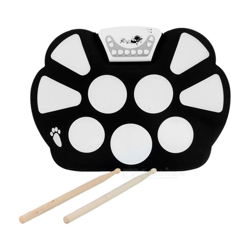 Bateria Alba Praticável Eletrônica Roll-Up Drum Kit W-758  - Luggi Instrumentos Musicais