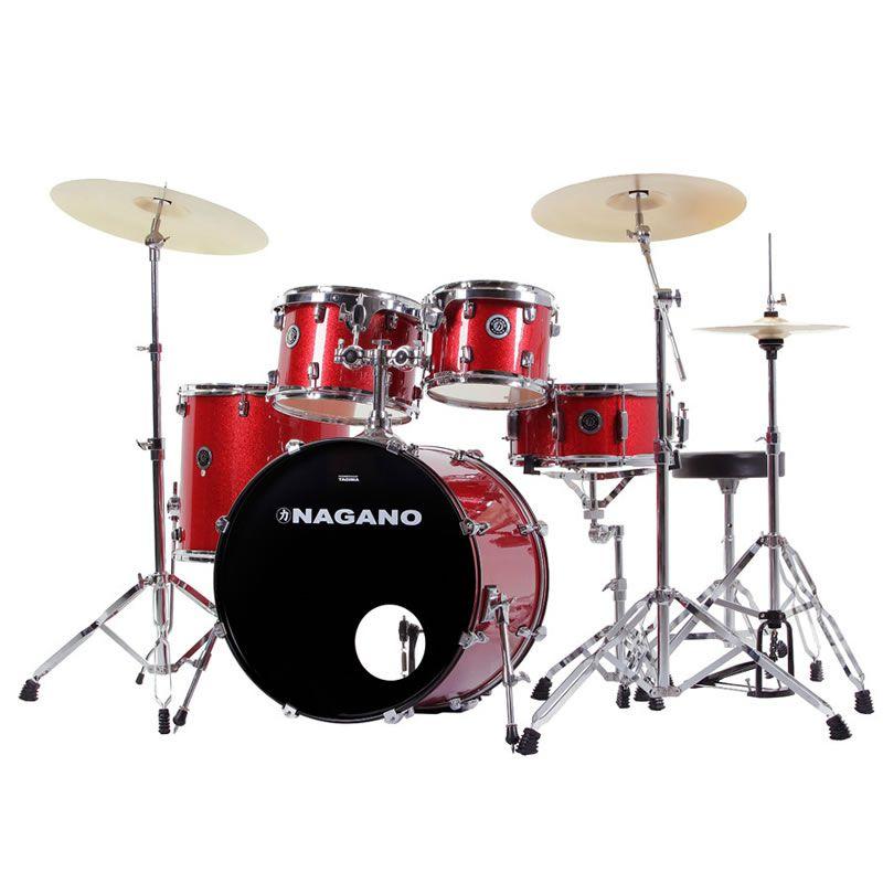Bateria Nagano Garage Fusion 20 Vermelha  - Luggi Instrumentos Musicais
