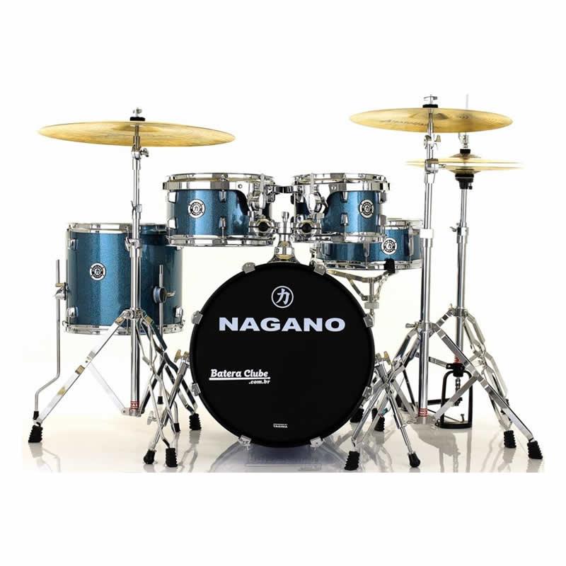 Bateria Nagano Garage Gig 18 Azul Spark  - Luggi Instrumentos Musicais