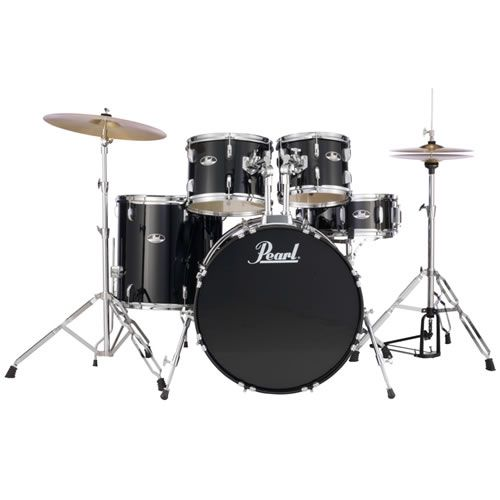 Bateria Pearl RS525SC31 Roadshow Jet Black  - Luggi Instrumentos Musicais