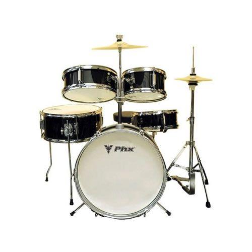 """Bateria Phx Infantil Ds514C 14"""" Preta  - Luggi Instrumentos Musicais"""