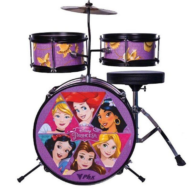 Bateria Phx Infantil Personagens - Princesas Disney  - Luggi Instrumentos Musicais