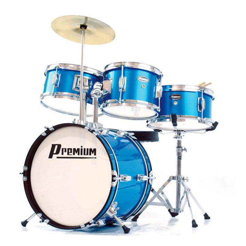 Bateria Premium Dx30J Junior Azul  - Luggi Instrumentos Musicais