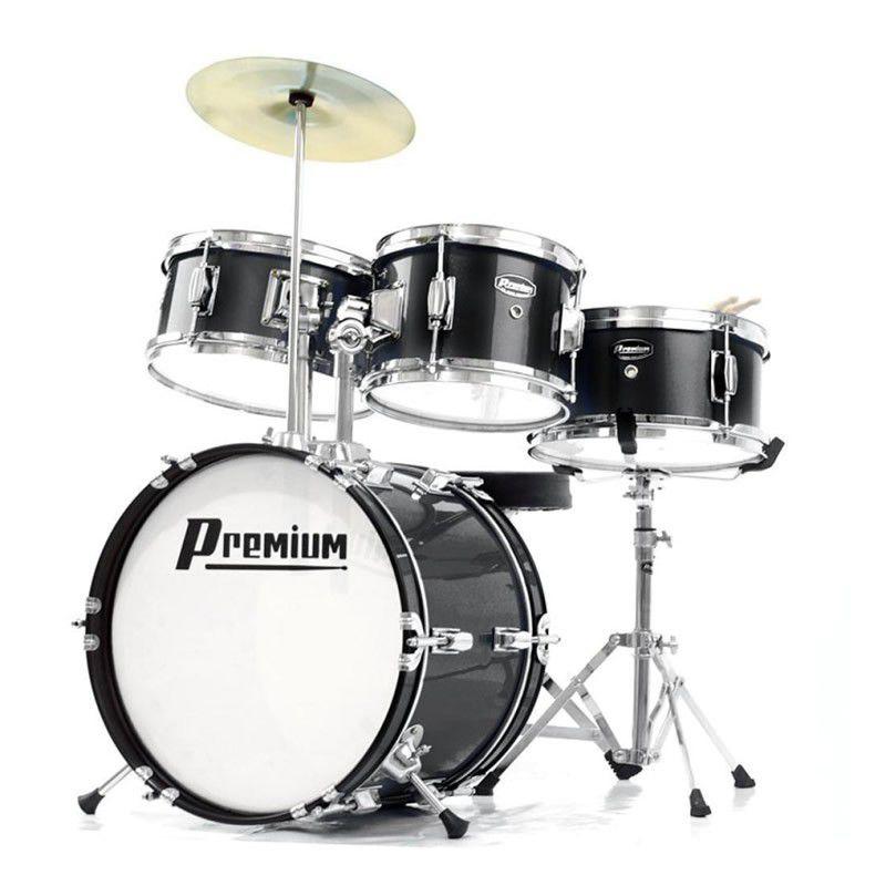 Bateria Premium Dx30J Junior Preta  - Luggi Instrumentos Musicais