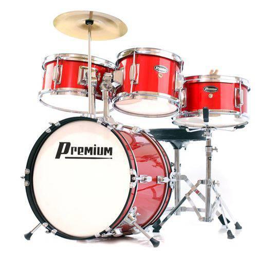 Bateria Premium Dx30J Junior Vermelha  - Luggi Instrumentos Musicais