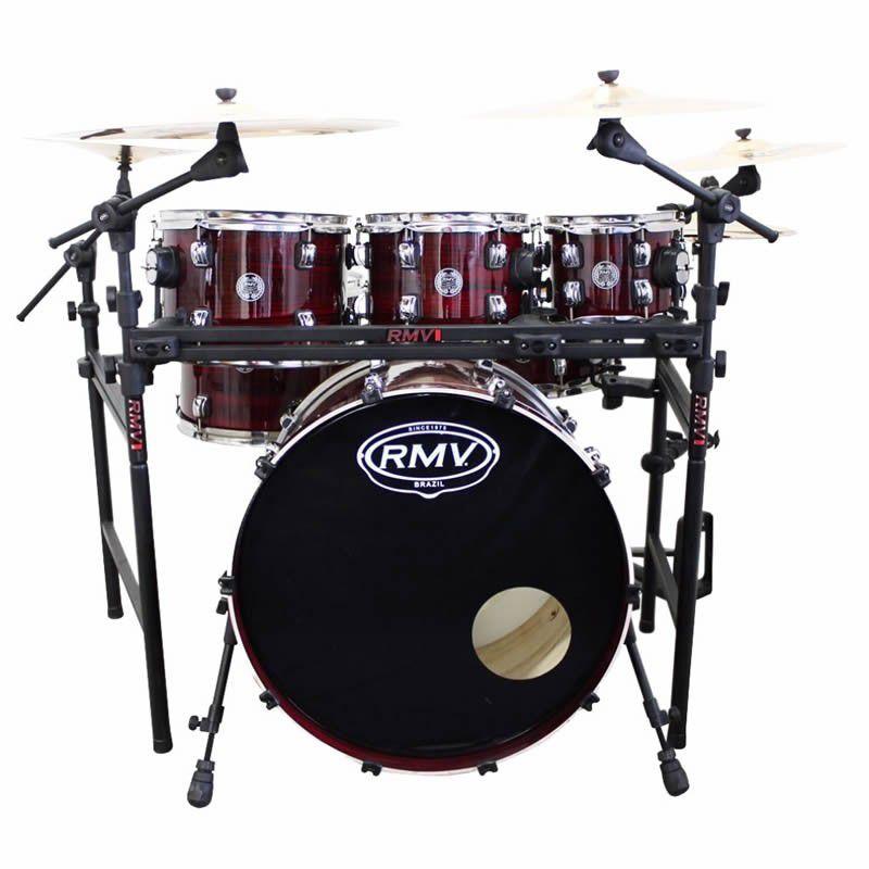Bateria Rmv Road Vermelho Zebrano  - Luggi Instrumentos Musicais
