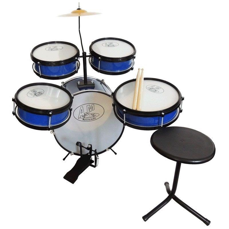 Bateria Rock Baby Infantil Azul  - Luggi Instrumentos Musicais