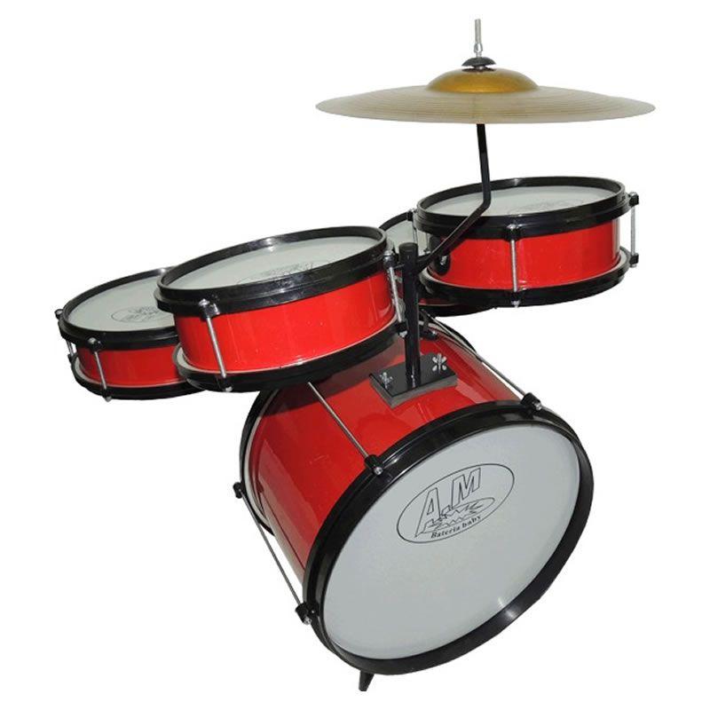 Bateria Rock Baby Infantil Vermelha  - Luggi Instrumentos Musicais