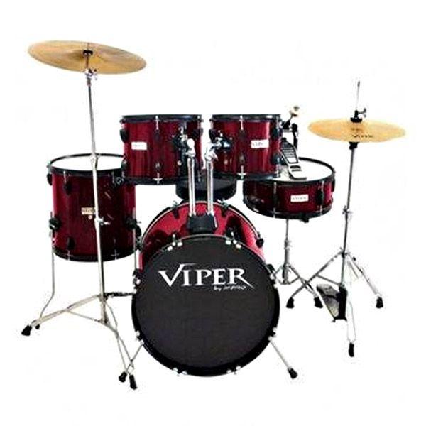 """Bateria Viper C.Ibanez 20"""" Vinho C/Pratos Xp460/20  - Luggi Instrumentos Musicais"""