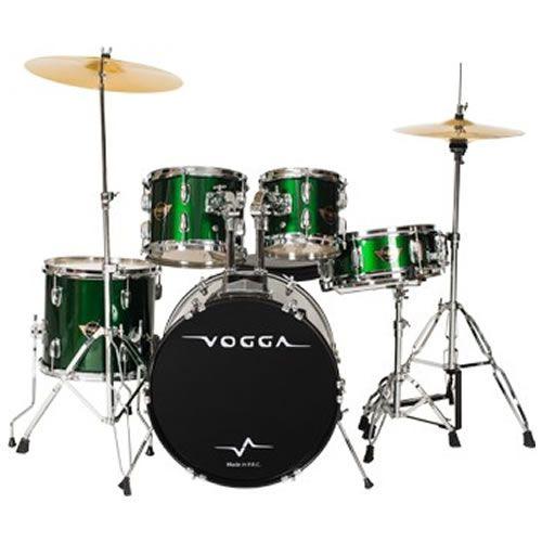 Bateria Vogga Talent Vpd920 Verde  - Luggi Instrumentos Musicais