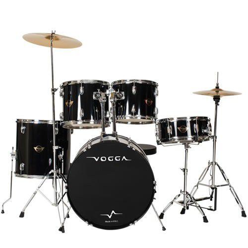 Bateria Vogga Talent Vpd922 Preta  - Luggi Instrumentos Musicais