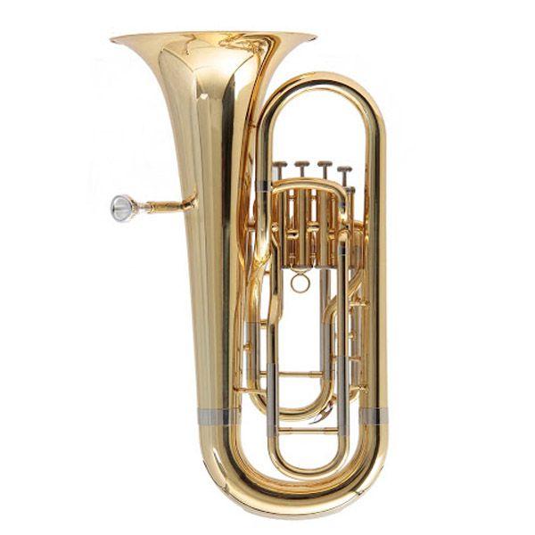Bombardino Schieffer 4 Pistos Laqueado Sche13.4/280P4A  - Luggi Instrumentos Musicais
