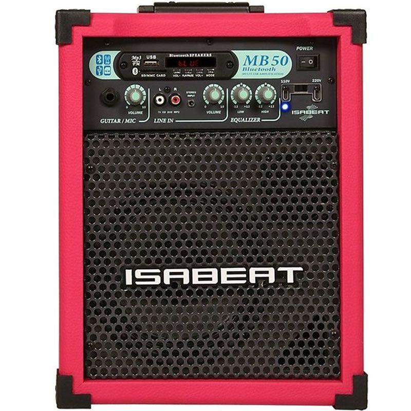 Caixa Isabeat Mb50 Bluethooth Rosa Pink  - Luggi Instrumentos Musicais