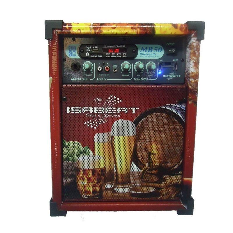 Caixa Isabeat Mb50 Usb/Bt Cerveja  - Luggi Instrumentos Musicais