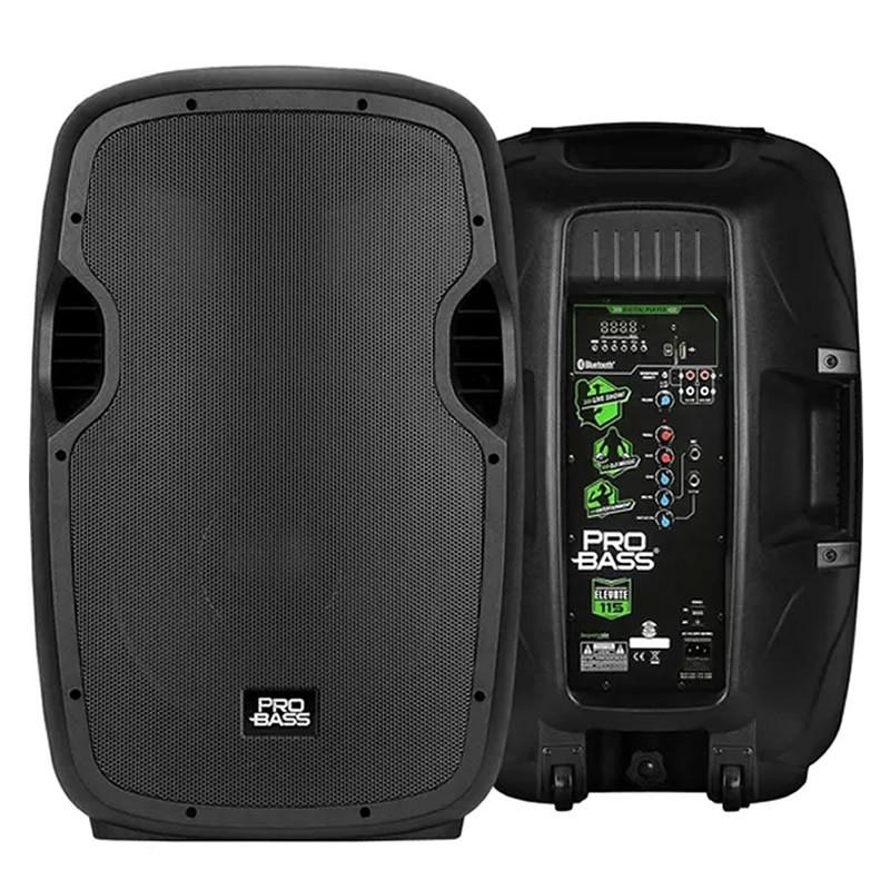 CAIXA PROBASS ATIVA 15P ELEVATE 115 B/USB  - Luggi Instrumentos Musicais