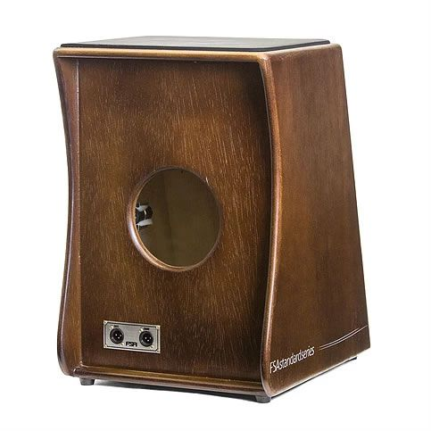 Cajon Fsa Standard Fs2508 Eletrico Tabaco  - Luggi Instrumentos Musicais