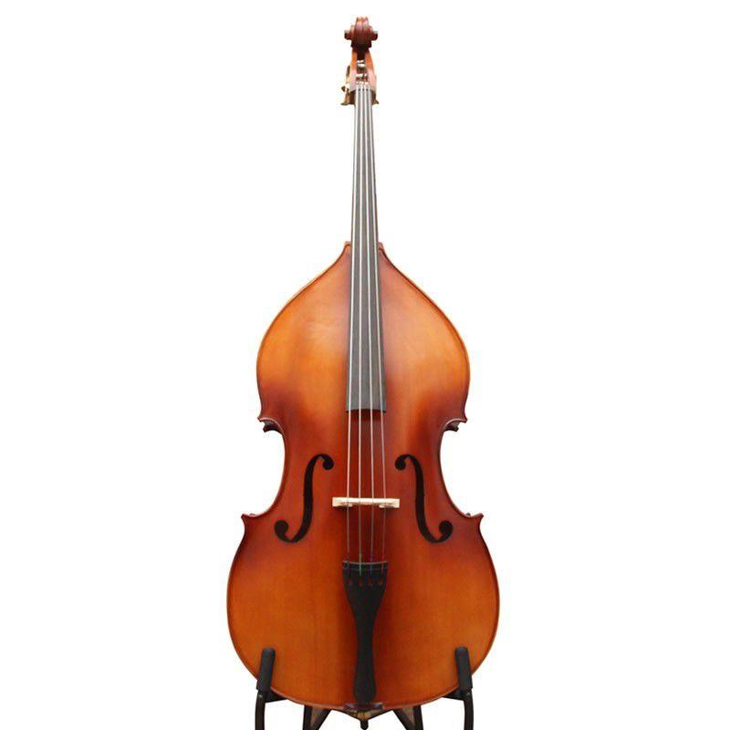 Contrabaixo Acústico Nhureson 1/4 Madeira Exposta - Com Capa  - Luggi Instrumentos Musicais