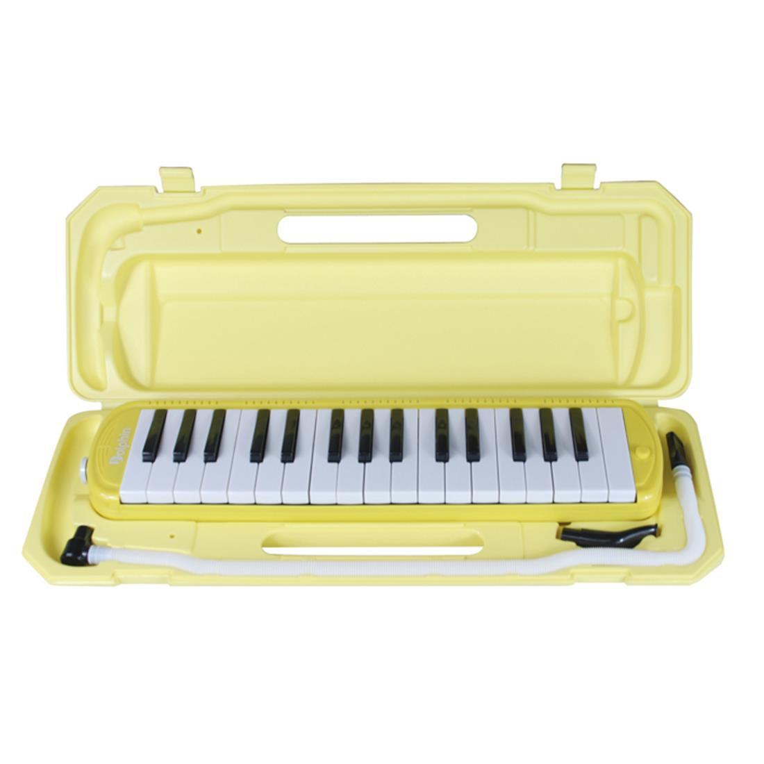 Escaleta Dolphin 32 Teclas Amarela  - Luggi Instrumentos Musicais