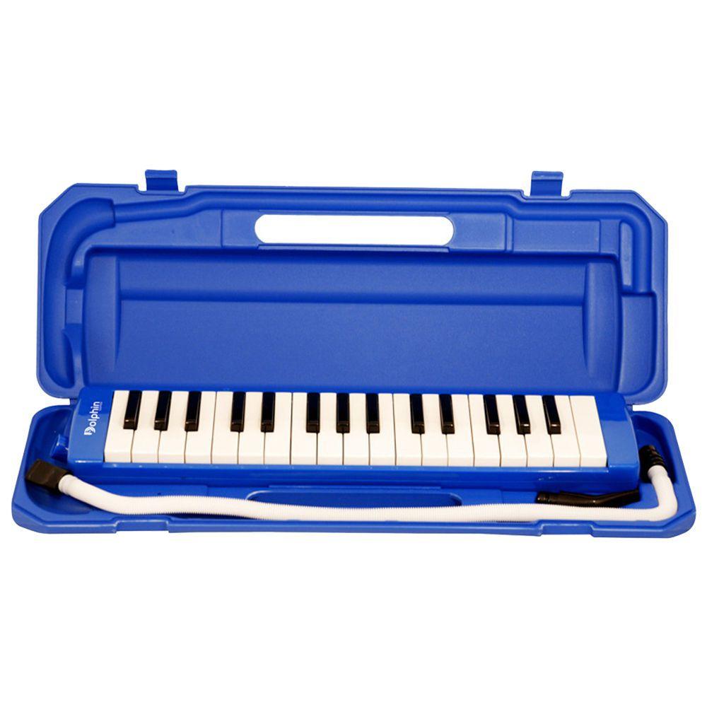 Escaleta Dolphin 37 Teclas Azul C/Semi Case  - Luggi Instrumentos Musicais