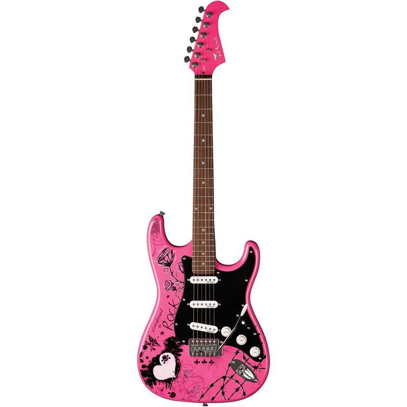 Guitarra Eagle Egp10 Strato Person Rock Rosa  - Luggi Instrumentos Musicais