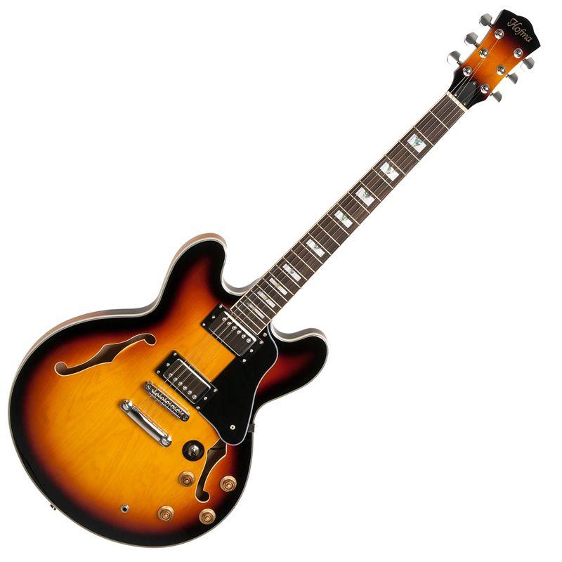 Guitarra Hofma Hg285C Semi Acústica Sunburst  - Luggi Instrumentos Musicais
