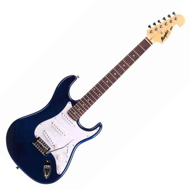 Guitarra Memphis Mg32 Azul Metálico Mb  - Luggi Instrumentos Musicais
