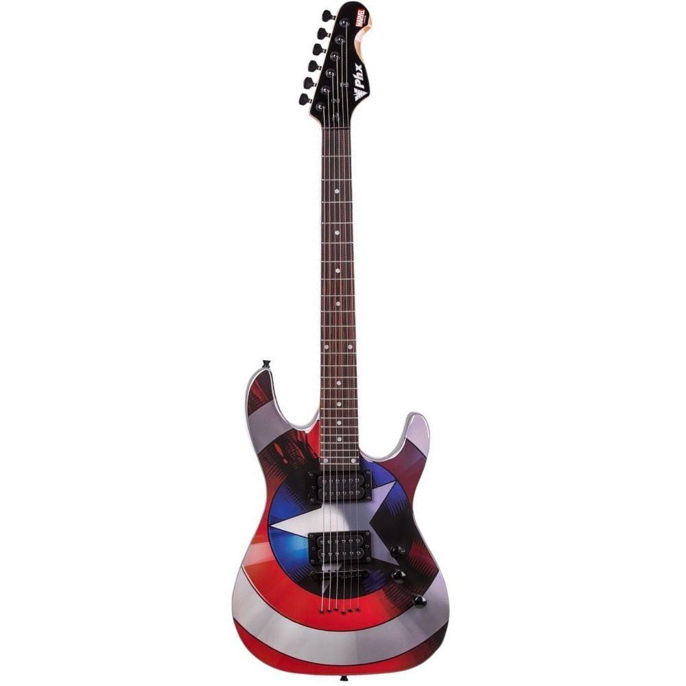 Guitarra Phx Capitão América Gmc-1  - Luggi Instrumentos Musicais