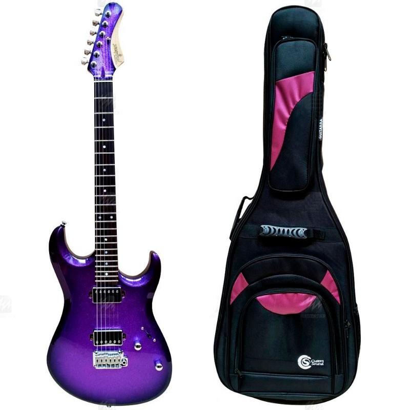 Guitarra Tagima Brasil Mj Chameleon Roxo Com Semi Case  - Luggi Instrumentos Musicais