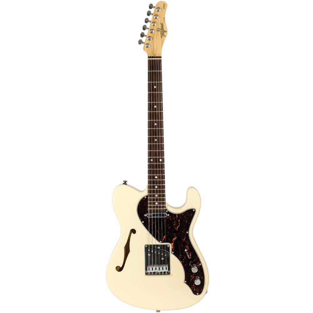 Guitarra Tagima T484 Tele Semi Acustica Branco Vin  - Luggi Instrumentos Musicais