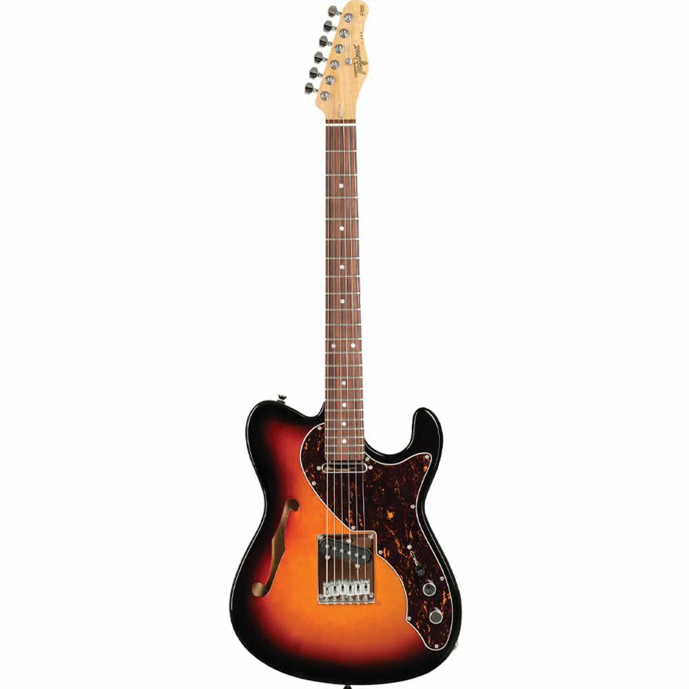Guitarra Tagima T484 Tele Semi Acústica Sunbusrt  - Luggi Instrumentos Musicais
