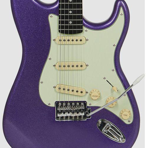 Guitarra Tagima Tg500 Woodstock Roxo Metalico  - Luggi Instrumentos Musicais