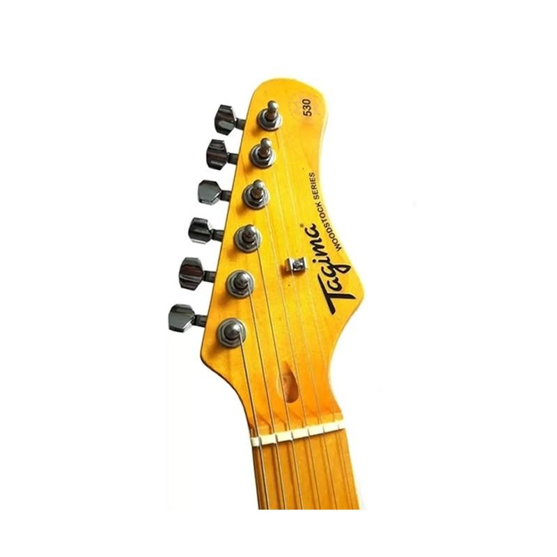 GUITARRA TAGIMA TG530 WOODSTOCK VERMELHO METALICO  - Luggi Instrumentos Musicais