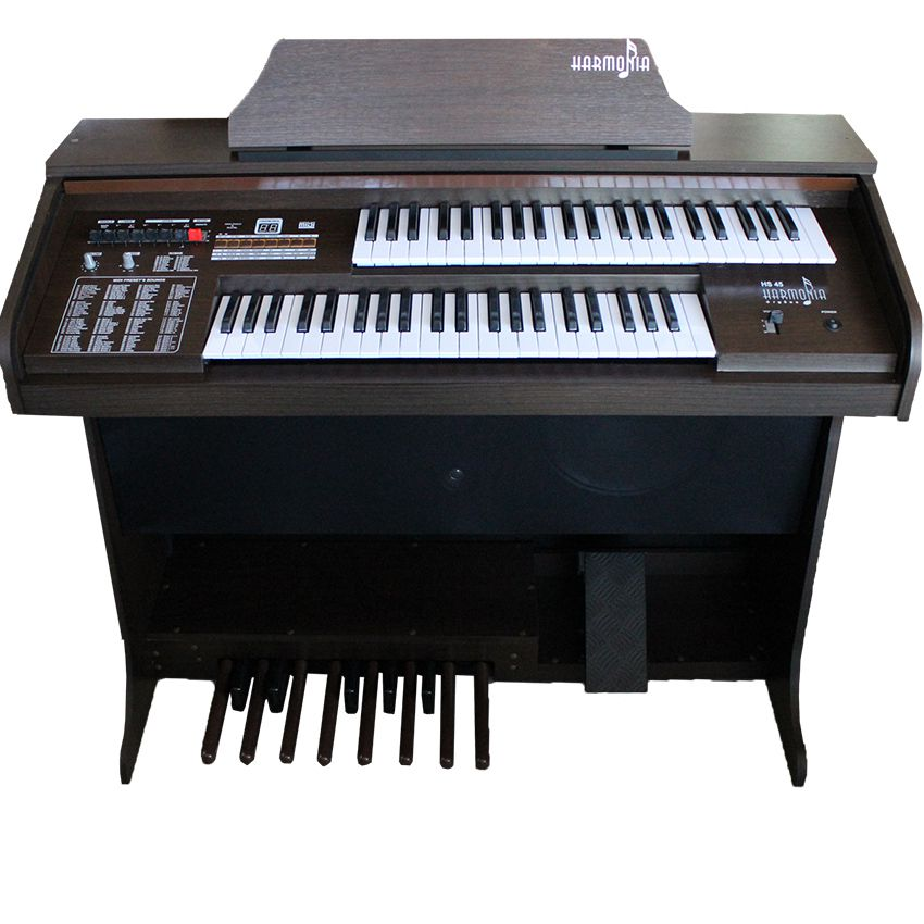 Órgão Harmonia Hs-45 Lux Marrom  - Luggi Instrumentos Musicais