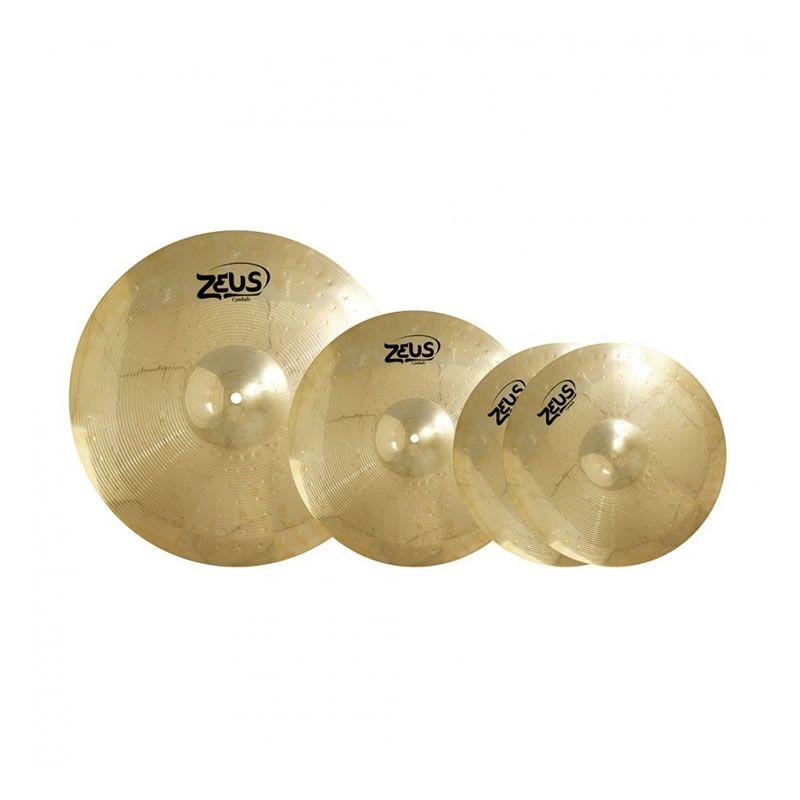 """Kit Prato Zeus Evolution Set C 14"""" 16"""" 20""""  - Luggi Instrumentos Musicais"""